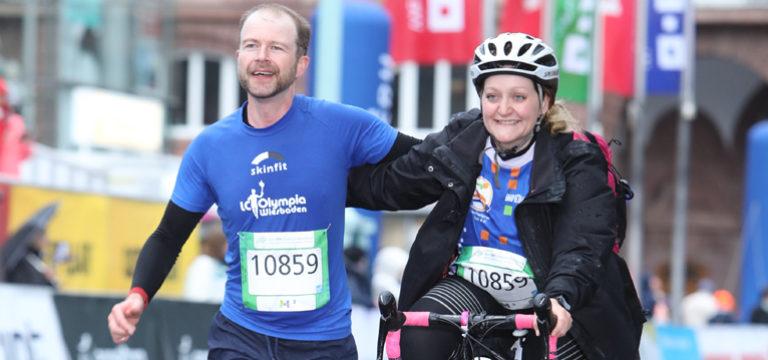 """Abwechselnd Fahren und Laufen beim """"SRH Dämmermarathon"""" in Mannheim am 11.5.2019"""