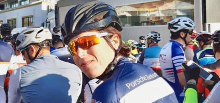 Carmen bei der Algarve Rundfahrt am Start